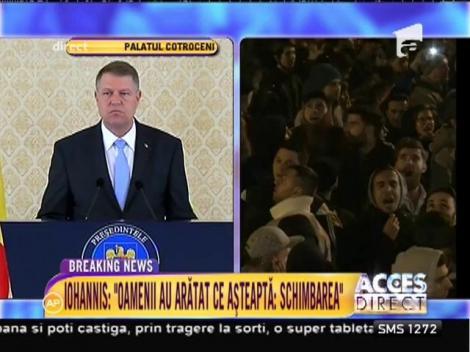 """Prima reacţie a preşedintelui Klaus Iohannis după demisia premierului Ponta: """"Indignarea românilor s-a transformat într-o revoltă"""""""