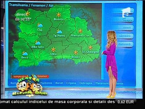 Vremea cu Flavia Mihăşan! Soarele va fi pe cer și astăzi!