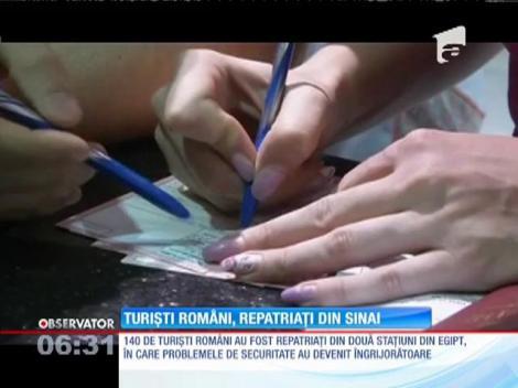 140 de turişti români au fost repatriaţi de urgenţă din peninsula egipteană Sinai