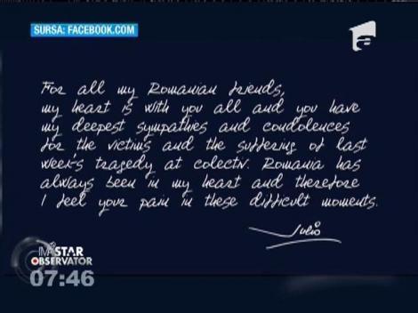 Julio Iglesias, mesaj emoționant pentru români