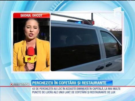 Perchiziţii în cofetăriile şi restaurantele din Capitală