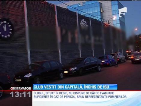 Club vestit din Capitală, situat în Regie, a fost închis de inspectorii ISU