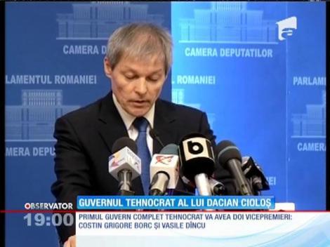 Dacian Cioloş și-a anunţat echipa din noul guvern. Este primul Executiv 100% tehnocrat!