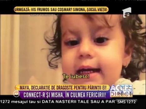 Connect-R şi Mihsa, în culmea fericirii! Maya, declaraţie de dragoste pentru părinţii ei!