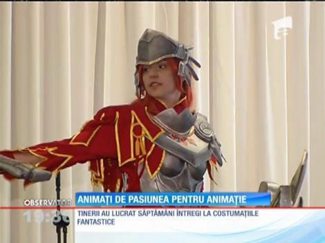 Zeci de tineri s-au costumat precum idolii lor din filmele de animație, în cadrul unui festival inedit