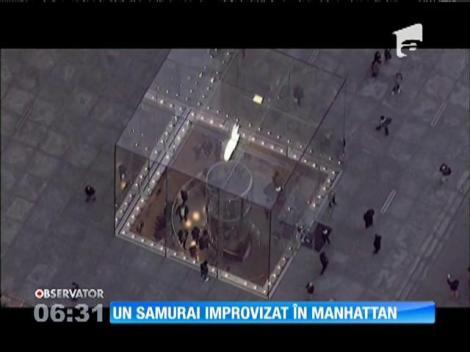 Un individ, înarmat cu o sabie, a stârnit panică la New York