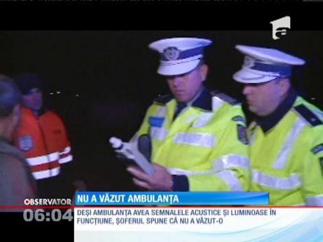 Un șofer din Botoșani a lovit o ambulanță