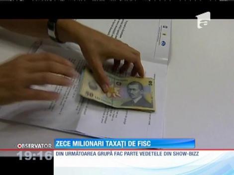 10 milionari taxați de FISC. Inspectorii au depistat venituri nedeclarate de peste 86 de miliaone de lei