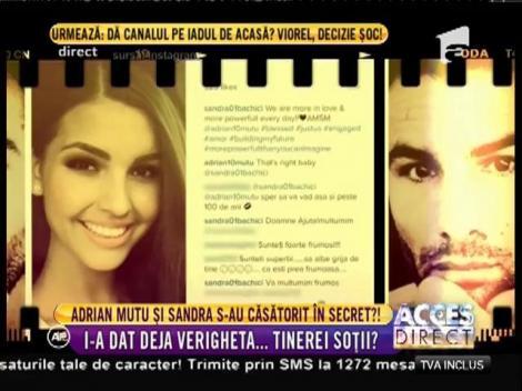 Adrian Mutu şi Sandra, căsătorie în secret?