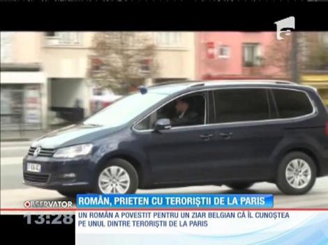 Un român, prieten cu teroriştii de la Paris