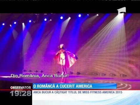 Anca Bucur a câştigat titlul de Miss Fitness America 2015