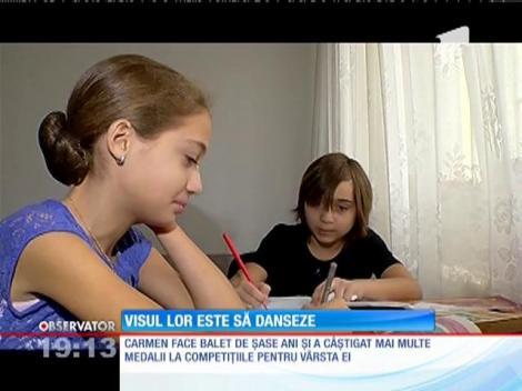 Visul lor e să danseze! Carmen şi Natalia sunt în grija statului de când se ştiu