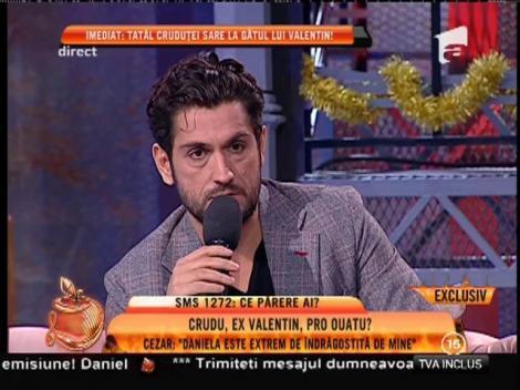 """Cezar Ouatu: """"Daniela Crudu este extrem de îndrăgostită de mine"""""""