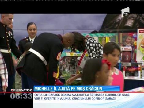 Michelle Obama, ajutorul lui Moș Crăciun