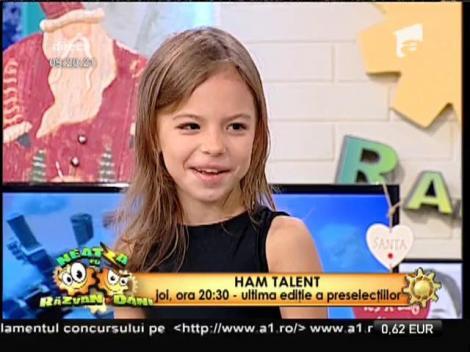 Adela, fetiță care a făcut show total la Ham Talent, împreună cu Ina, cățelușa ei, a venit în platoul de la Neatza