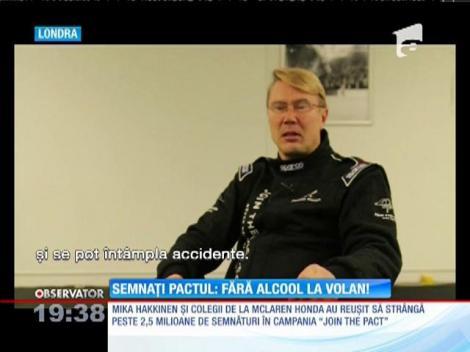 """Cei mai iubiţi piloti de Formula 1 au un mesaj important: """"Fără alcool la volan!"""""""