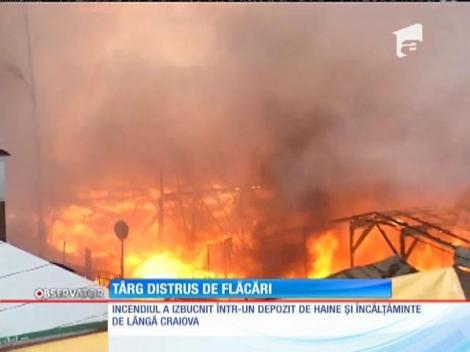 Incendiu de proporţii la marginea Craiovei