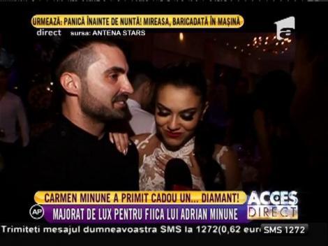 Carmen Minune a primit cadou un diamant și o petrecere de majorat demnă de o prințesă!