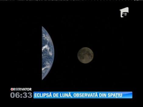 Imagini cu eclipsa de lună din 27 septembrie, făcute publice de NASA
