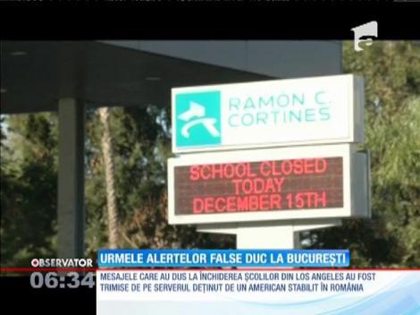Mesajele de amenințare ce au dus la închiderea școlilor din Los Angeles au venit din București
