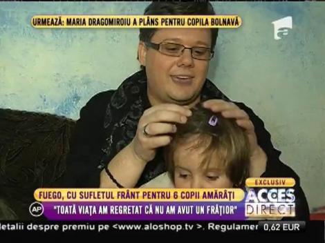 Fuego a făcut sarmale și a împodobit bradul pentru șase copii amărâți!