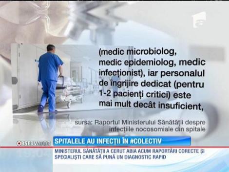 Oficialii din Sănătate au recunoscut că în spitale există focare de infecţie