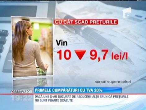 Românii au făcut primele cumpărături cu TVA 20%