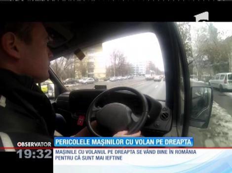Românii ar putea spune adio maşinilor cu volan pe dreapta