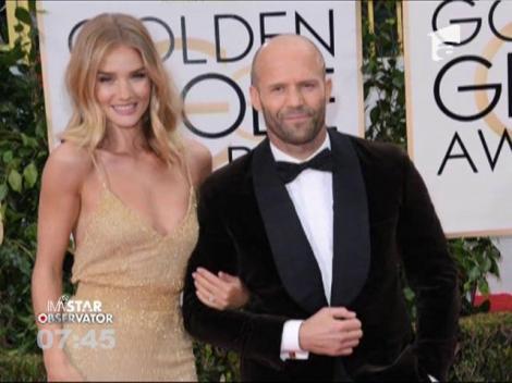 Actorul Jason Statham s-a logodit cu modelul Rosie Huntington