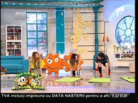 Fitness la Neatza! Antrenament special pentru eliminarea grăsimilor depuse de sărbători