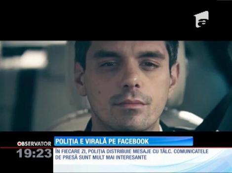 Poliţia e virală pe Facebook