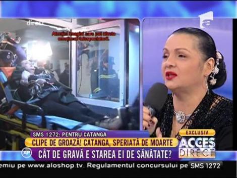 """Cornelia Catanga, speriată de moarte: """"În viaţa mea nu am avut aşa tensiune!"""""""