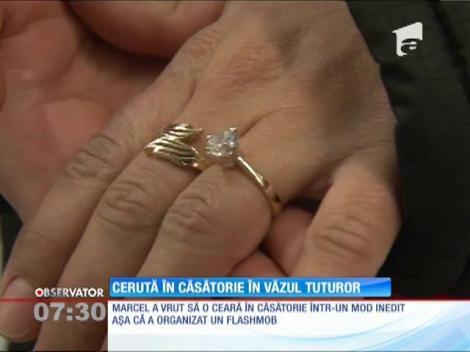 Cerere în căsătorie inedită, la o sesiune de cumpărături