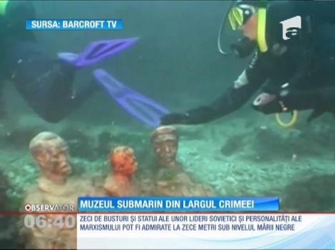 Un straniu muzeu subacvatic, în apele Mării Negre