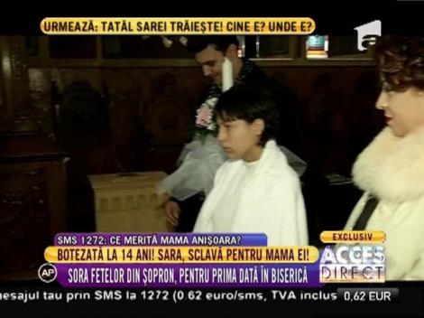 Emoționant! Botezatul fetiței de 14 ani, Sara, care a fost sclavă pentru mama ei