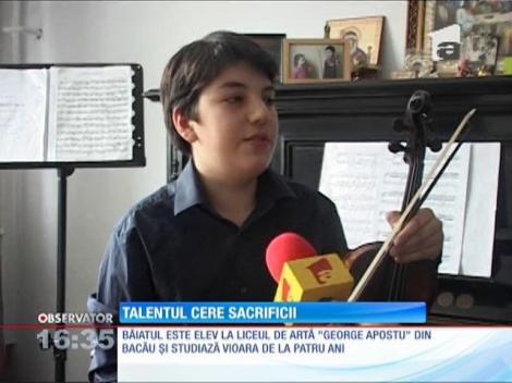 La 14 ani este printre cei mai buni violonişti români, totuși are nevoie de ajutor