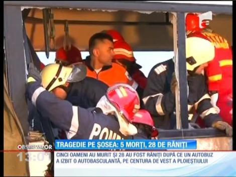 Tragedie pe centura Ploieştiului! Cinci oameni au murit şi 28 sunt grav răniţi