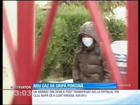 Un bărbat din Deva a fost diagnosticat cu gripă porcină