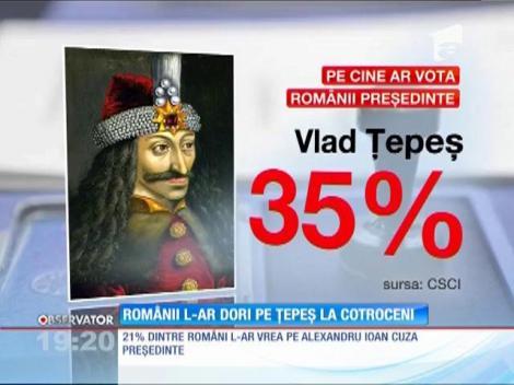 Vlad Ţepeş, candidatul preferat de români pentru postul de președinte