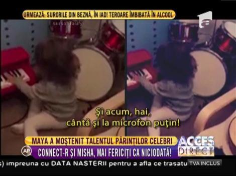 """Adorabil! Duet de zile mari între Connect-R şi micuța Maya, pe melodia """"Săniuța fuge"""""""