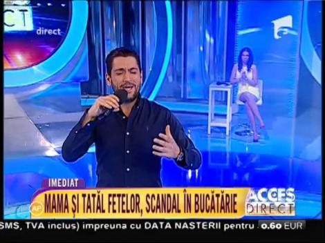 """Vocea începutului de weekend! Cezar Ouatu, interpretare de excepţie la """"Acces Direct"""""""