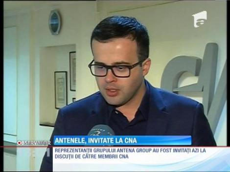 Reprezentanţii grupului Antena Group, invitaţi la discuţii de către membrii CNA