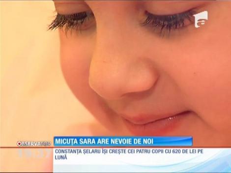 Micuţa Sara se luptă o tumoră osoasă