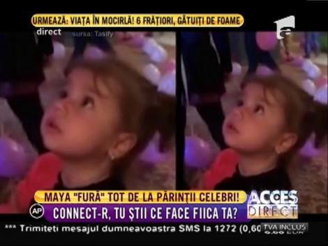 Adorabilă! Maya, fetiţa lui Connect-R şi a Mishei, un copil MINUNE. Cu ce i-a surprins micuţa pe toţi