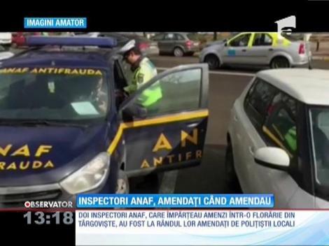 Doi inspectori ANAF, amendați de polițiștii din Târgoviște