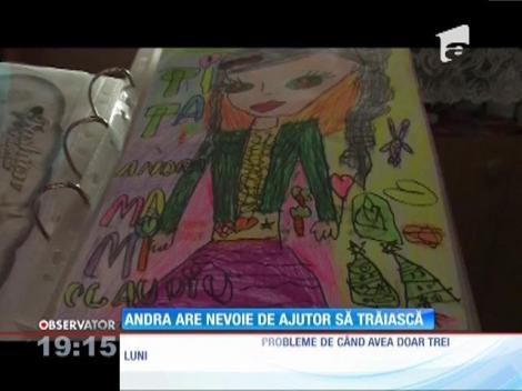 Andra, o fetiță din Botoșani, are nevoie de ajutor ca să trăiască