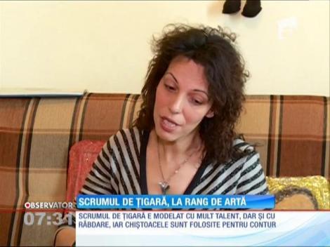 O tânără din Constanţa face tablouri deosebite din scrum de ţigară
