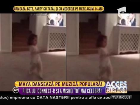 Te topești de dragul ei! Fiica lui Connect-R și a Mishei dansează pe muzică populară