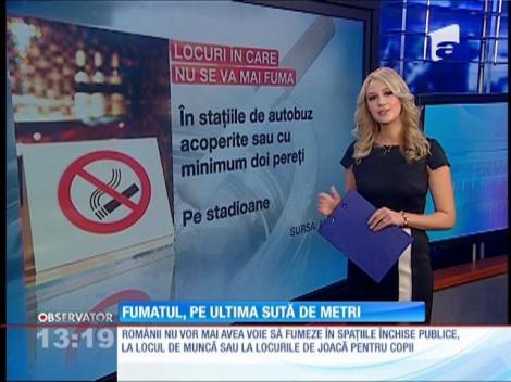 Atenţie fumători! De mâine, nu se mai aprinde ţigara în spaţiile publice. Unde se mai poate fuma fără să fim amendaţi