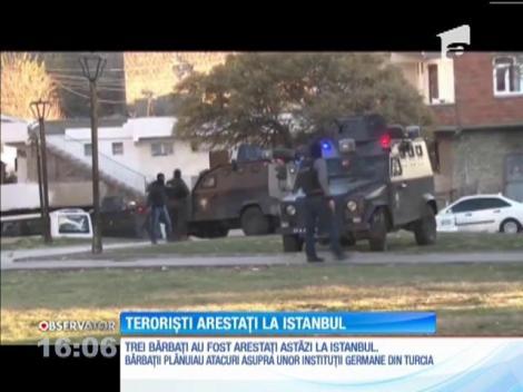 Trei presupuşi terorişti au fost arestaţi la Istanbul